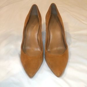 Real Italian Leather & Suede Pumps - J Crew
